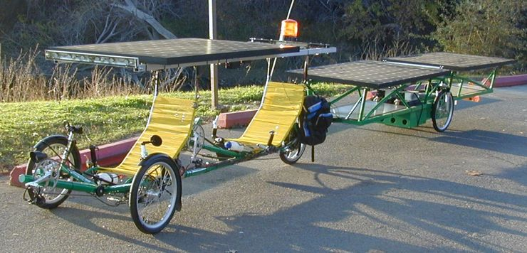 Side view of the solar bike